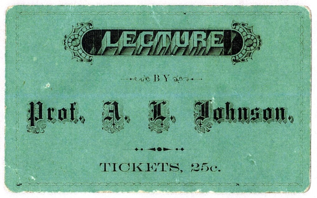 A. L. Johnson ticket SOHS M44B4