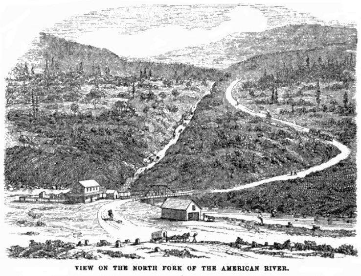 American River, California August 1859 Hutchings' Illustrated California Magazine