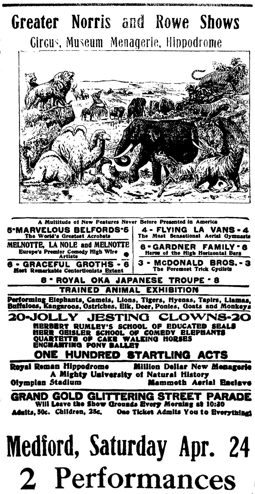 Medford Daily Tribune, April 12, 1909