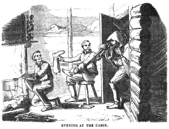 Evening at the Cabin, January 1859 Hutchings' Illustrated California Magazine