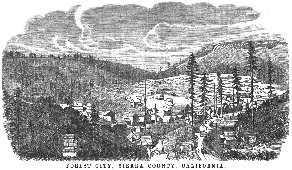 Forest City, California September 1858 Hutchings' Illustrated California Magazine