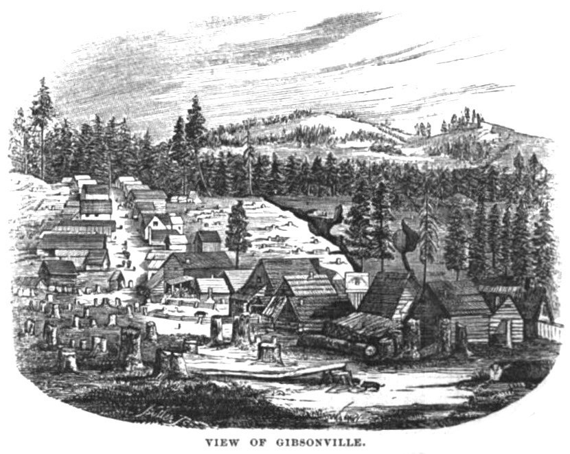 Gibsonville, California November 1856 Hutchings' Illustrated California Magazine