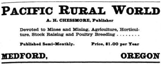 Pacific Rural World ad, 1901 Polk's