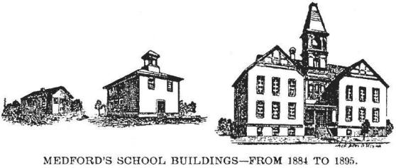Medford's First Three Schools