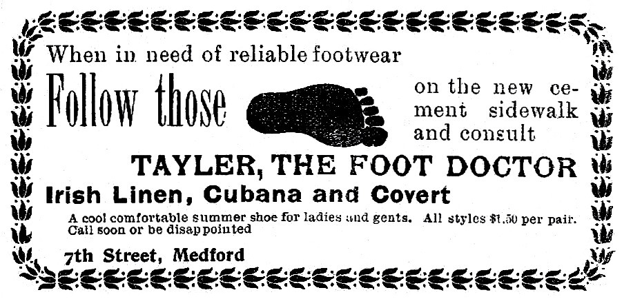 A. C. Tayler ad, May 10, 1901 Medford Mail