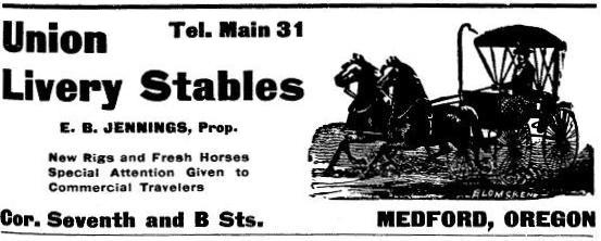 Union Livery Stables ad, 1901 Polk's