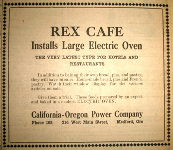 Rex Cafe, MMT May 8, 1920