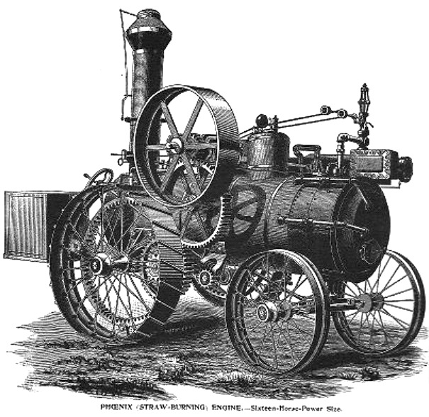 Aultman Phoenix engine from the 1893 catalog.