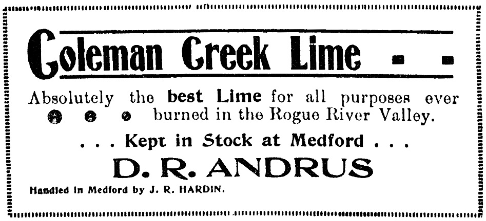 Medford Mail, January 18, 1901