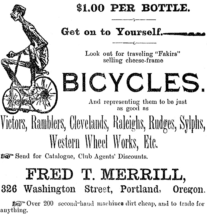 Bicycle ad, May 26, 1893 Democratic Times