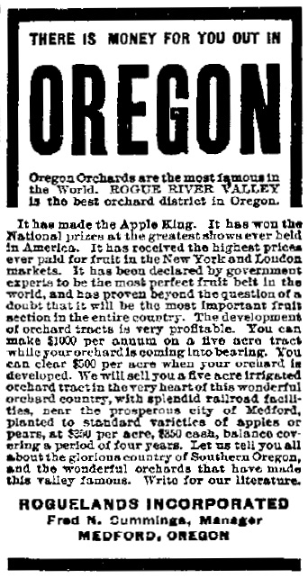 Roguelands ad, February 2, 1911 Oxford Mirror