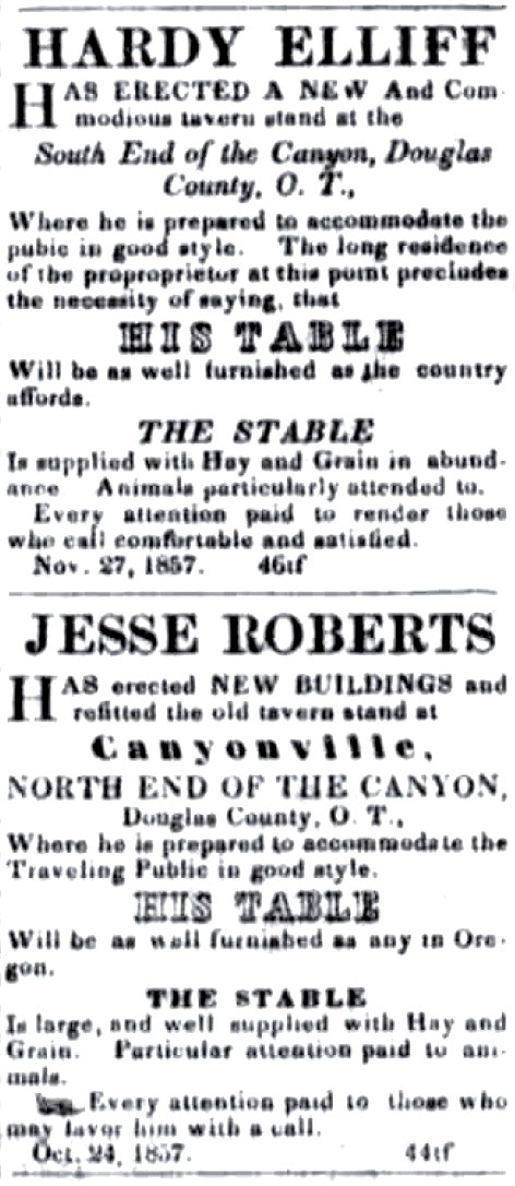 April 3, 1858 Oregon Sentinel, Jacksonville