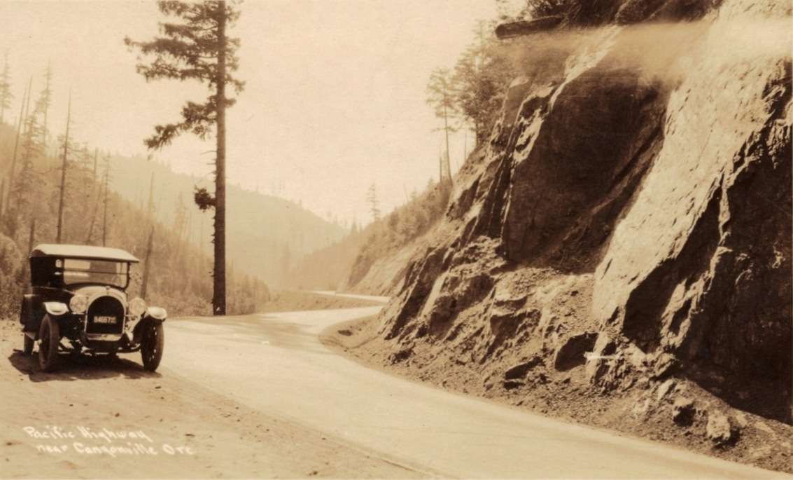 Pacific Highway in the Canyon, circa 1923.
