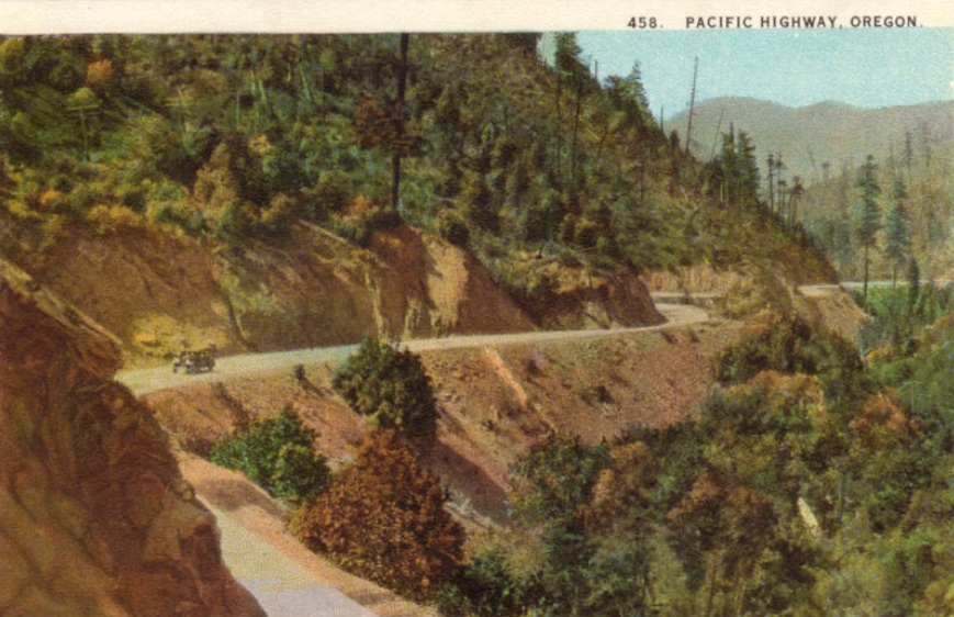 Pacific Highway in the Canyon, 1934.