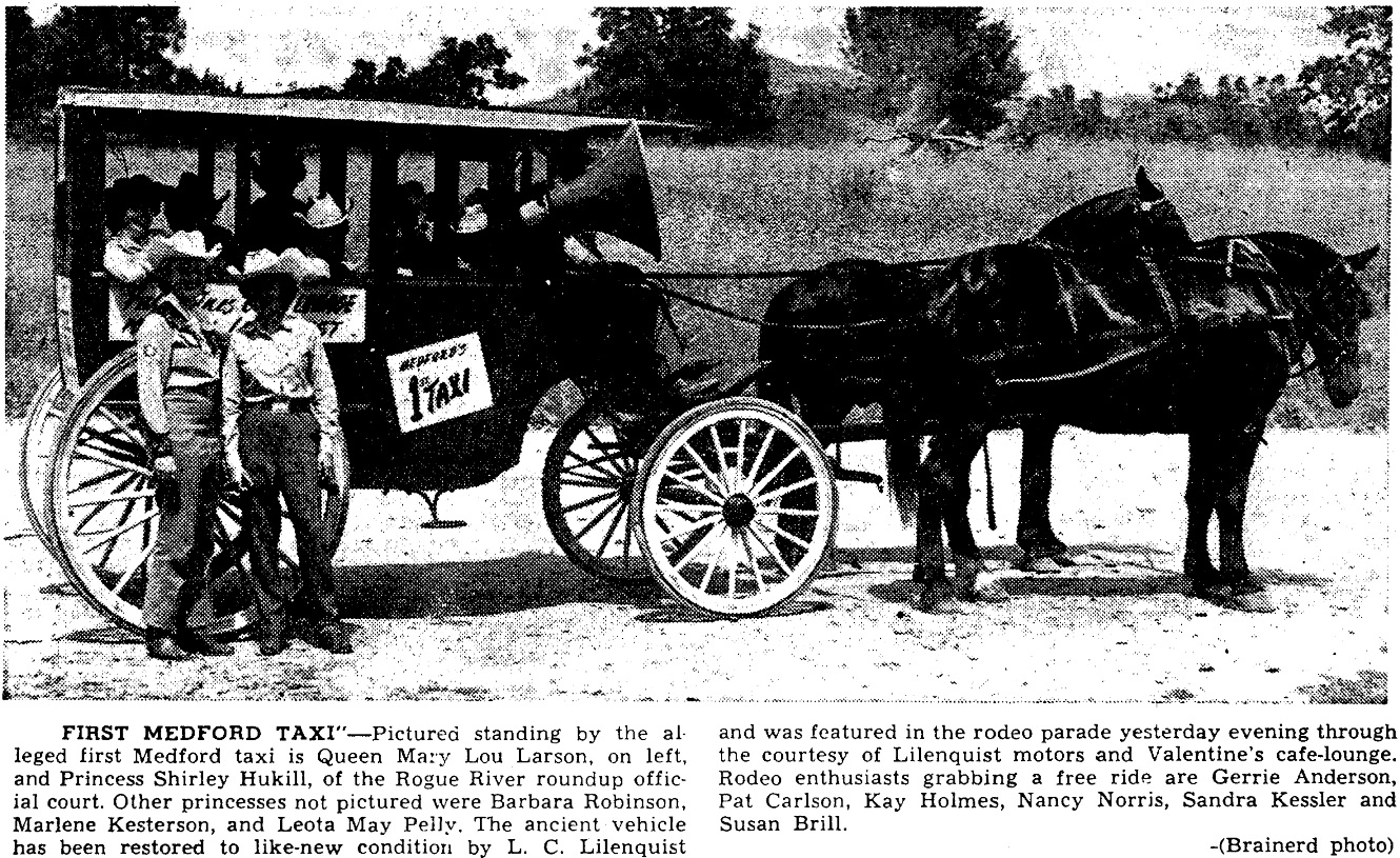 Possibly Medford's First Taxi