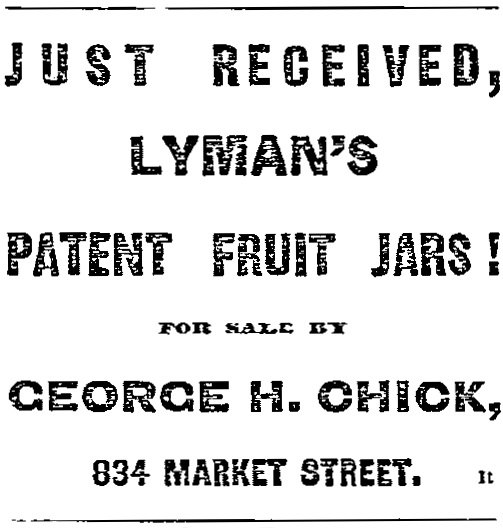George H. Chick ad, June 16, 1868 San Francisco Bulletin