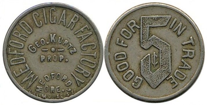 George Kurtz Cigar Factory Token, Medford, Oregon
