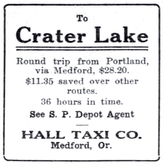 Hall Taxi Co. ad, July 13, 1913 Sunday Oregonian