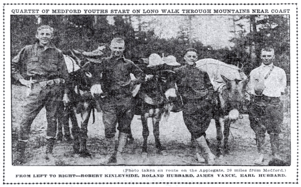 Hikers July 27, 1913 Sunday Oregonian