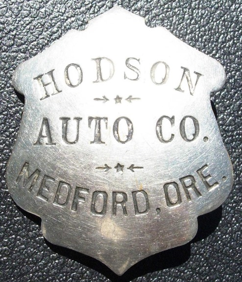 Hodson chauffeur's badge