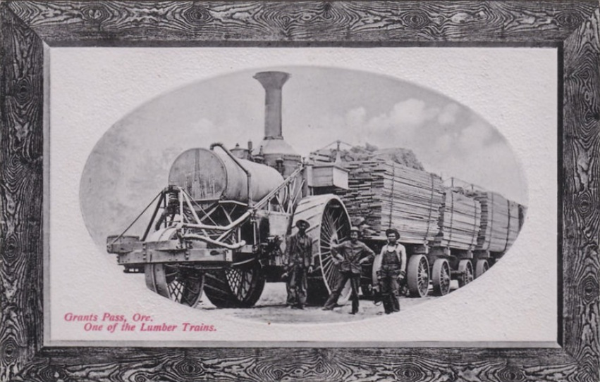 Josephine County Lumber Train, circa 1912