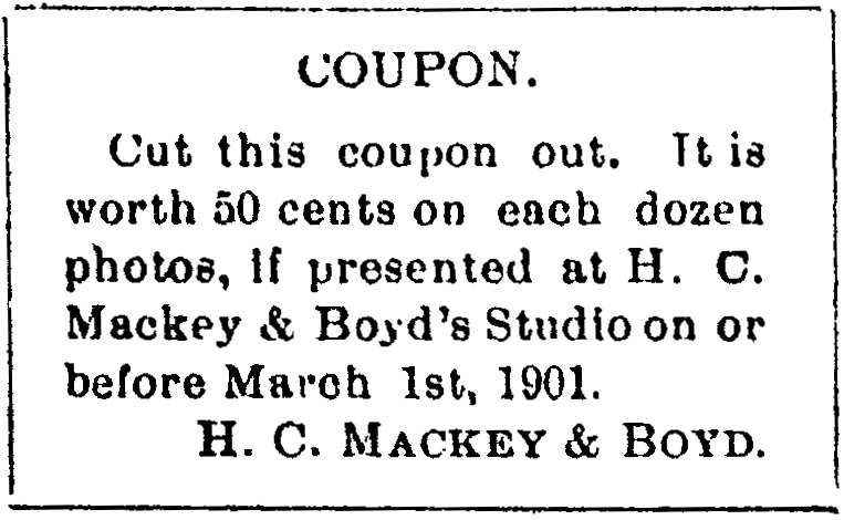 Medford Mail, January 25, 1901.