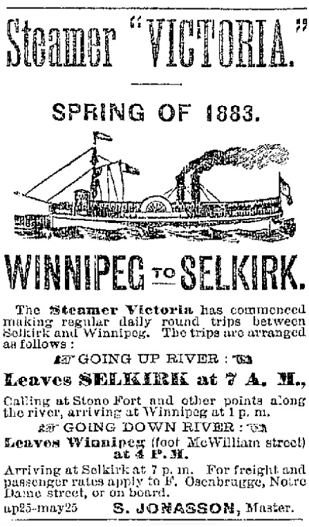 Osenbrugge ad, May 5, 1883 Winnipeg Free Press