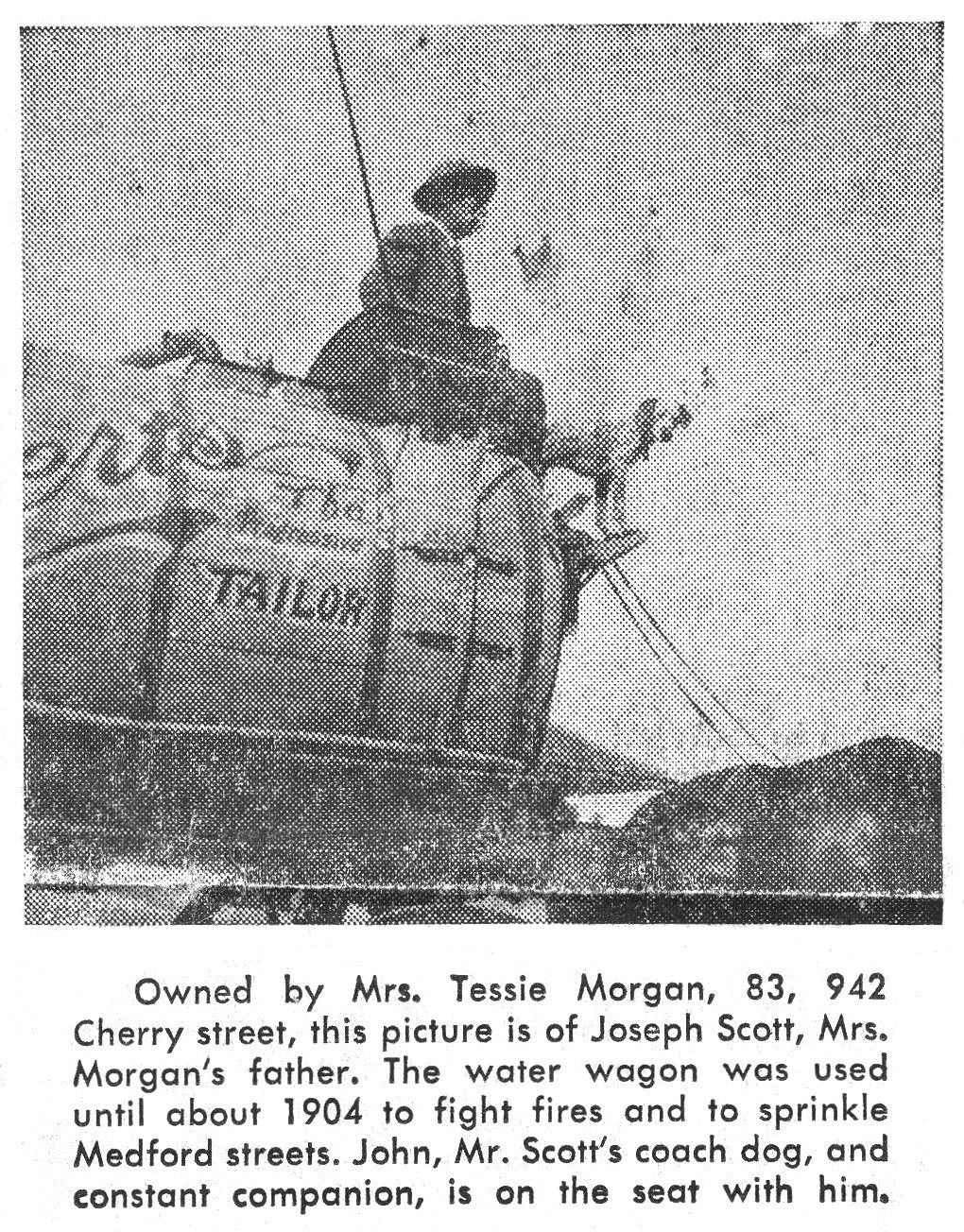 Street Sprinkler Water Wagon, February 27, 1955 Medford Mail Tribune